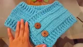 getlinkyoutube.com-Cuello bufanda en crochet paso a paso