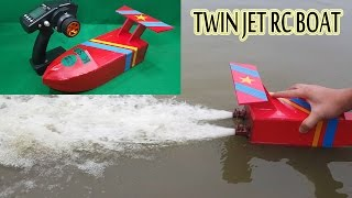 getlinkyoutube.com-How to make a Twin Jet RC Boat Using Turbo Jet Motor