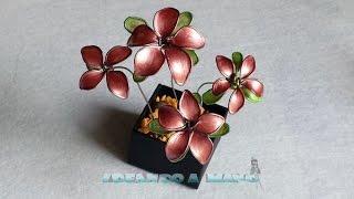 getlinkyoutube.com-Cómo hacer flores con alambre y esmalte de colores