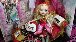 getlinkyoutube.com-APPLE WHITE FAINTING COUCH EVER AFTER HIGH PLAYSET REVIEW VIDEO!!! :D
