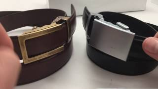 """getlinkyoutube.com-Anson Belt Review // Classic vs Traditional Buckle and 1.25"""" Leather Straps"""
