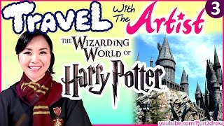 getlinkyoutube.com-FUN at Wizarding World of HARRY POTTER | Travel with the Artist | Travel Vlog