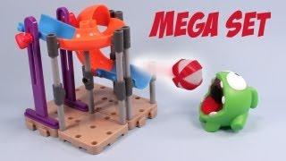 getlinkyoutube.com-Cut the Rope Om Nom's Playground Mega Set Toy Review