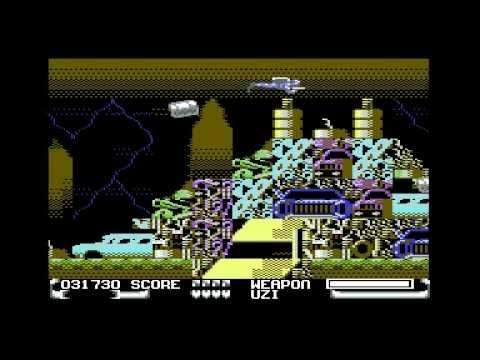 THUNDER JAWS DOMARK COMMODORE 64 C64 GAME GAMEPLAY