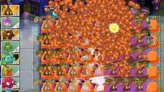 Plants vs Zombies 2 Greatest Hits Epic Hack - Level 67 - Paint the Lawn Orange