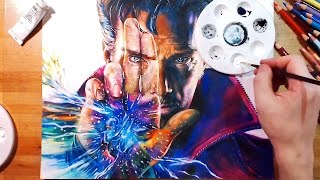 getlinkyoutube.com-Speed Drawing: Doctor Strange (Benedict Cumberbatch)