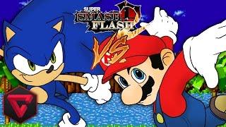 getlinkyoutube.com-MARIO VS SONIC: SUPER SMASH FLASH 2