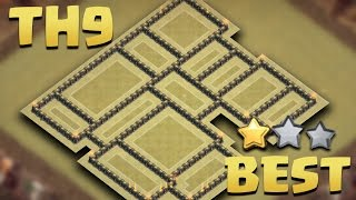 getlinkyoutube.com-Town Hall 9 (TH9 Tested in 15 Wars) BEST WAR BASE 2016 AnTi 3 Star [AnTi All Combo] + Replays