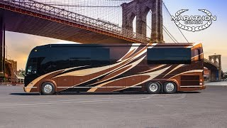 getlinkyoutube.com-Marathon Coach Custom Coach #1247 Prevost H3-45 Double Slide