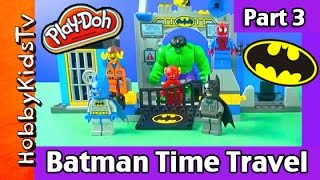 getlinkyoutube.com-Batman Time Travel Part 3: Play-Doh Joker Smash! Spiderman, Emmet by HobbyKidsTV