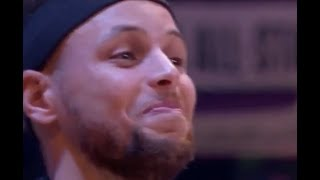 Stephen Curry Cant Stop Laughing During NBA All Star 2018 National Anthem