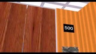 getlinkyoutube.com-HI Speed Traction Elevator at The Simple - 500 Floors Building Skyscraper 3D