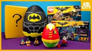 getlinkyoutube.com-LEGO Batman Movie Play-Doh Surprise Egg with LEGO Batman Toys | KIDCITY