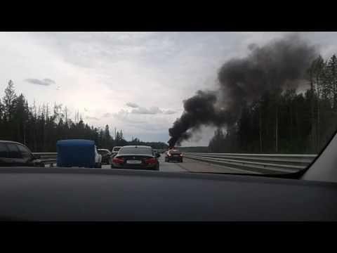 Ford Mandeo горит на M11 Москва 10 июня