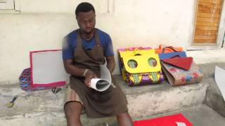 getlinkyoutube.com-HANDMADE AFRICAN WAX PRINT BAGS, SHOES & MORE