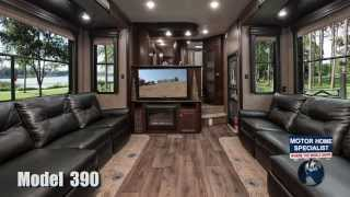 getlinkyoutube.com-Road Warrior 390 Toy Hauler Luxury 5th wheel review at Motor Home Specialist