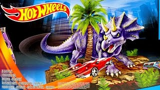 getlinkyoutube.com-Hot Wheels Track HW City Dino Spinout With One Hot Wheels Car ★ For Kids Worldwide ★
