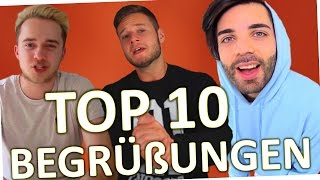 getlinkyoutube.com-TOP 10 YouTuber Begrüßungen 2016 (Deutschland)