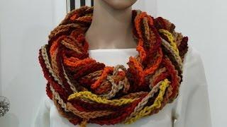 getlinkyoutube.com-How To Crochet Scarf Tutorial Pattern #2 (Infinity Scarf)