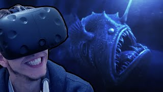 HTC Vive - The Ocean Is Scary! | TheBlu