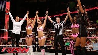 getlinkyoutube.com-Brie Bella, Naomi & Natalya vs. Nikki Bella, Cameron & Summer Rae: Raw, Oct. 13, 2014