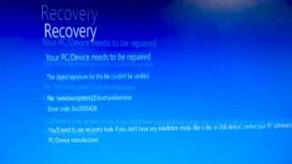 "getlinkyoutube.com-How to fix ""Your PC/Device needs to be repaired"" error (0xc0000428)"