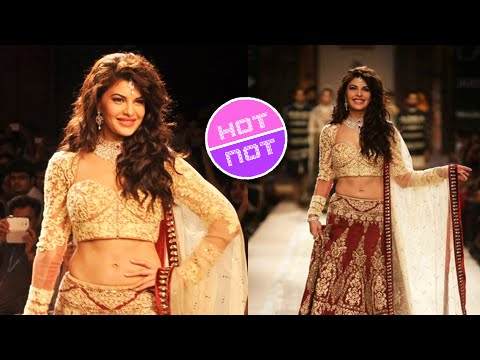 HOT Jacqueline Fernandez Turns Bride At Lakme Fashion Week 2014 Day 2