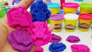 getlinkyoutube.com-플레이도우 찍기놀이 장난감 뽀로로와 친구들 폴리 지점토 클레이 play doh stamp toy