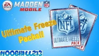 Madden Mobile Ultimate Freeze Pack Opening!!