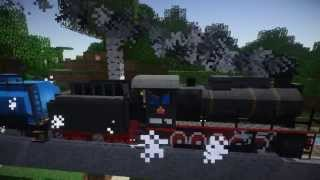 getlinkyoutube.com-TrainCraft -Steam locomotive  Ride- Minecraft HD 1080p