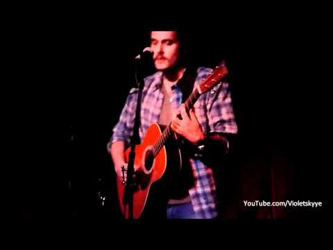 "John Mayer WORLD PREMIERE ""A Break In The Clouds"" Hotel Cafe, L.A."
