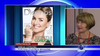 Ximena Córdoba portada de D'latinos Magazine edición de Agosto