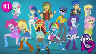 getlinkyoutube.com-NEW My Little Pony Equestria Girls App Episode 1 Friendship Games with Applejack and Fluttershy