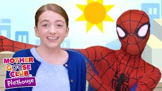 getlinkyoutube.com-Spiderman Surprise Egg | Itsy Bitsy Spider | Mother Goose Club Playhouse Kids Video