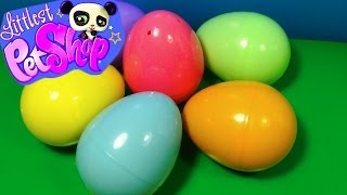 getlinkyoutube.com-6 Littlest Pet Shop surprise eggs! LPS surprise eggs! Each egg holds a different lovable pet!