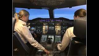 "getlinkyoutube.com-Ladies Landing ""Wide-Body's"" ♦ Cockpit♦ JFK 22L~ 'Mins' for Lady #2  ♀♀"
