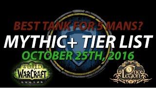 getlinkyoutube.com-Mythic+ Tier List - Ranking TANKS in 5 mans - Legion Patch 7.1, October 25th, 2016
