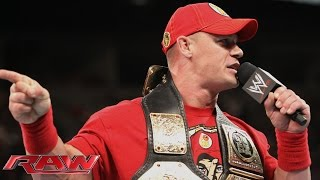 getlinkyoutube.com-John Cena calls out Brock Lesnar: Raw, Aug. 11, 2014