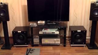 getlinkyoutube.com-AS Calix F-2. AMP JVC A-X1.SUB Audiovector k sub. DVD Marantz DV-4001