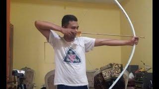 getlinkyoutube.com-Membuat Busur Panah Dari pipa PVC Tanpa Alat listrik
