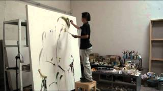 getlinkyoutube.com-LIU ZHENGYONG - Galerie DOCK SUD - Peinture - Atelier - part 1