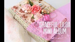 getlinkyoutube.com-Graceful Tilda shabby chic Mini Album Tutorial