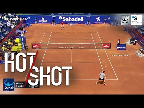 Hot Shot: Dimitrov Hits Half Volley Winner Barcelona 2018