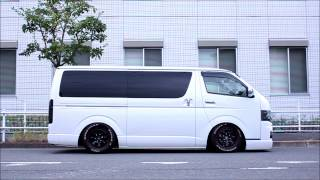 getlinkyoutube.com-トヨタ ハイエースへSKIPPERのハイドロを装着!! Toyota Hiace SKIPPER Hydraulic Suspension installed!