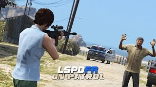 getlinkyoutube.com-LSPDFR - Day 406 - Psycho with a Gun