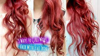 getlinkyoutube.com-3 Ways to Curl Hair With Flat Iron Straightener l Curly Wavy Hairstyle for Short Medium Long Hair