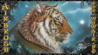 "getlinkyoutube.com-Airbrush by Wow No.418  "" Tiger "" HD"