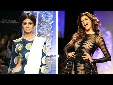 HOT Sushmita Sen and Shilpa Shetty Fires The Ramp At LFW 2014