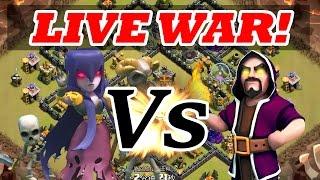 "getlinkyoutube.com-Clash Of Clans   ""WITCH vs WIZARD""   LIVE CLAN WARS!"