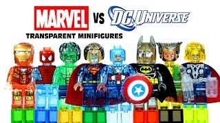 getlinkyoutube.com-LEGO Marvel vs DC Superheroes Transparent KnockOff Minifigures Set 13 Avengers vs Justice League